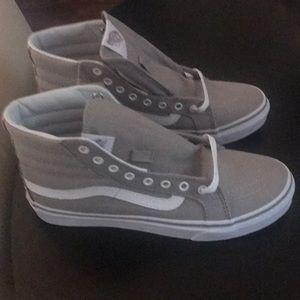 Vans gray high tops. Never worn 7.5